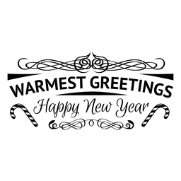 Warmest greeting new year badge