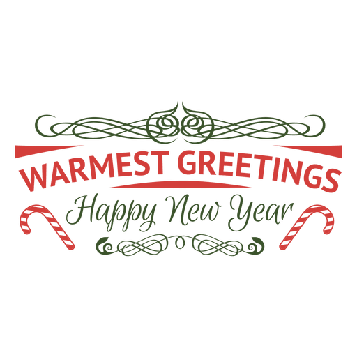 Warmest greeting ornamented holiday badge Transparent PNG