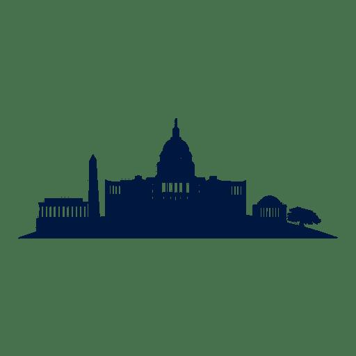 Washington DC-Skyline-Stadtbildschattenbild