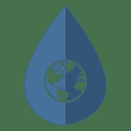Ícone de globo de dia de água