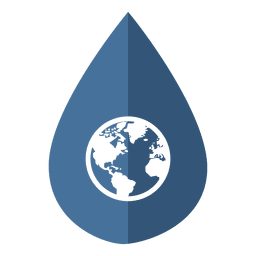Wasser Tag Globus-Symbol