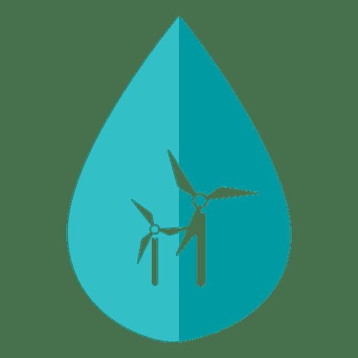 Icono de molino de viento del día del agua
