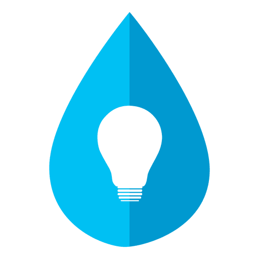 Water drop bulb icon Transparent PNG
