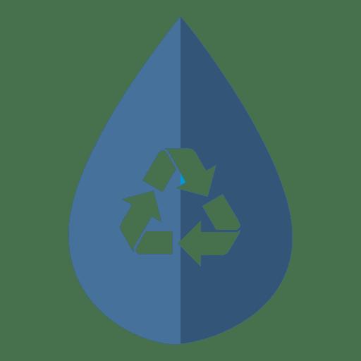 Ícone de reciclagem de gota de água Transparent PNG