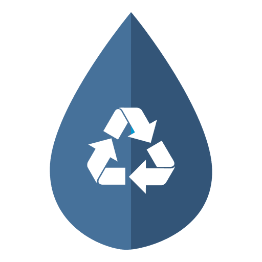 Water drop recycling icon Transparent PNG