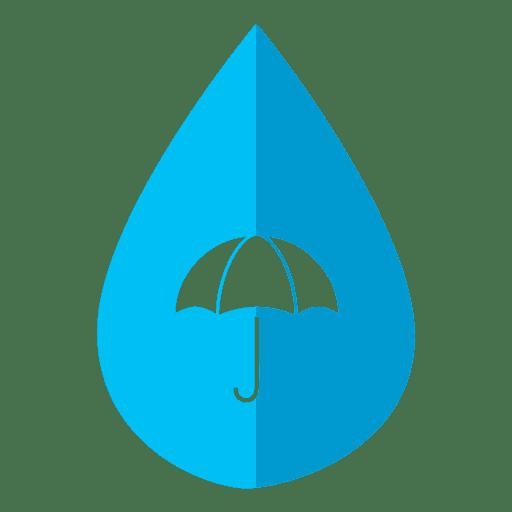 Ícone de guarda-chuva de gota de água Transparent PNG