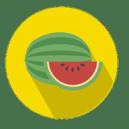 Icono de círculo plano de sandía