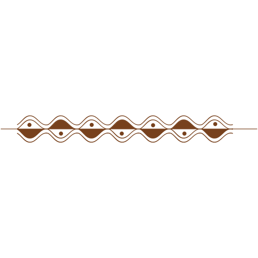 Wave dot border pattern