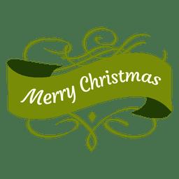 Insignia de Navidad de cinta ondulada