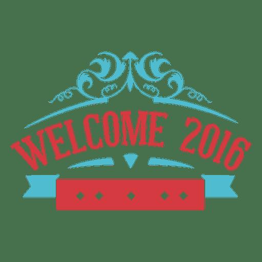 Bienvenida año nuevo etiqueta 2016 Transparent PNG