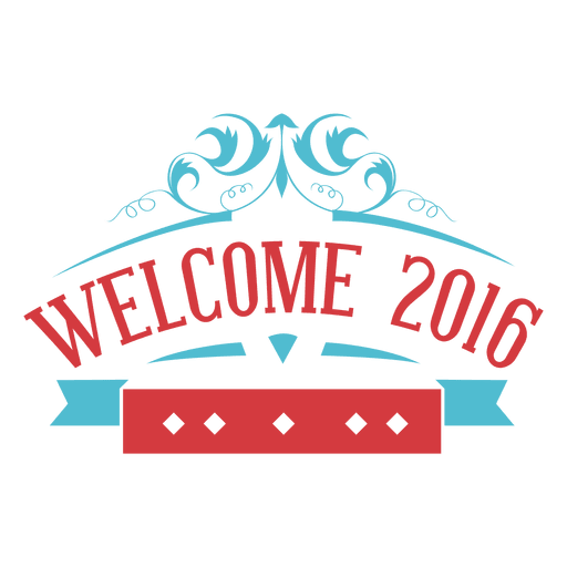 Welcome new year 2016 label Transparent PNG