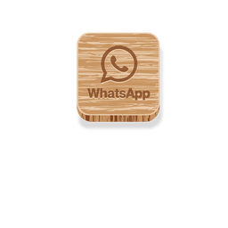 Whatsapp wooden square logo