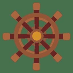 Icono de rueda de viaje