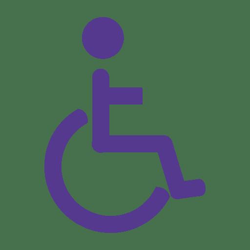Icono plano de silla de ruedas Transparent PNG