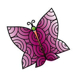 Decoracion de mariposa de alas anchas