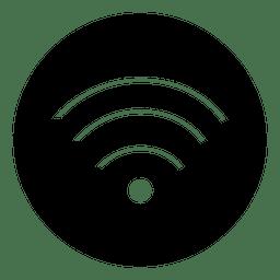 Icono de servicio redondo wifi
