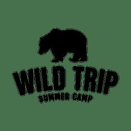etiqueta de viaje de ida salvaje