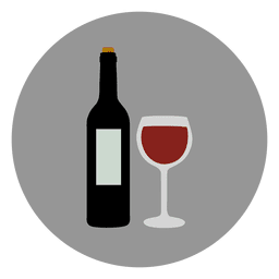 Wine glass circle icon