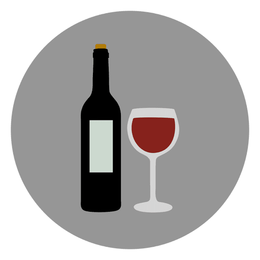 Wine glass circle icon Transparent PNG