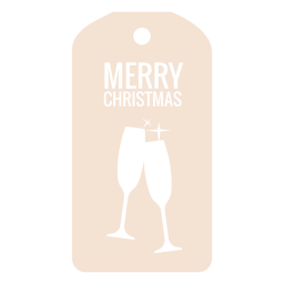 Wine glasses die cut xmas tag