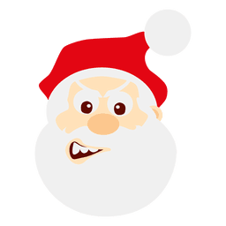Wink santa face cartoon