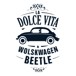 Wolskwagen beetle retro badge