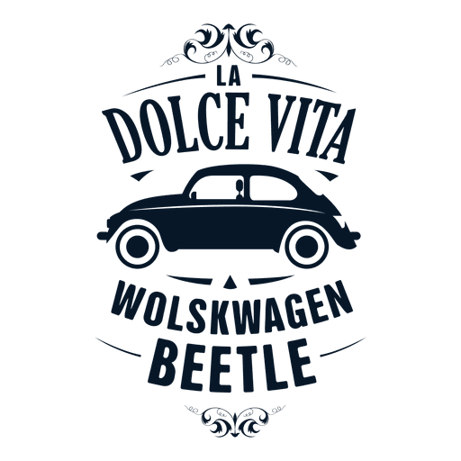 Wolskwagen beetle retro badge Transparent PNG