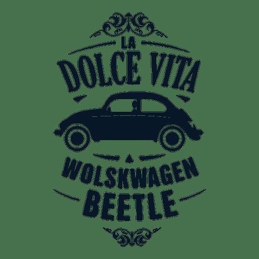 Wolskwagen beetle retro badge