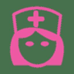Mulher, enfermeira, headshot