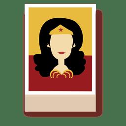 Wonder personaje de dibujos animados de la mujer