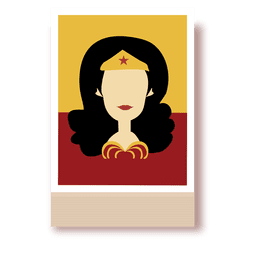Wonder woman cartoon character