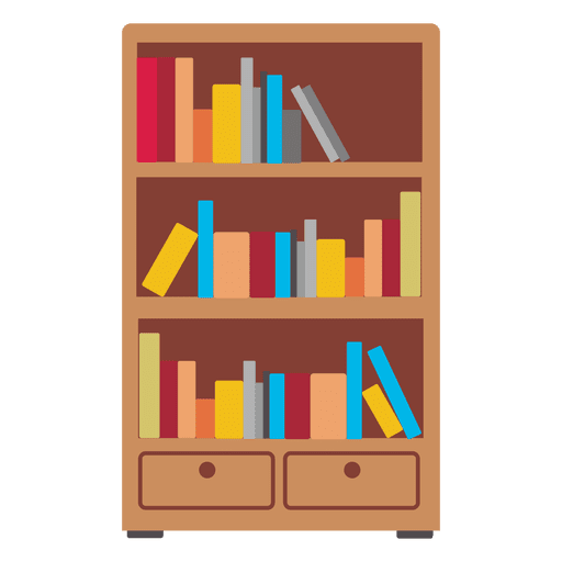 Wooden Bookshelf Icon Transparent PNG SVG Vector