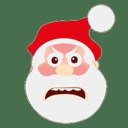 Worried santa face cartoon