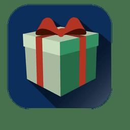 Icono de Navidad de caja de regalo envuelto