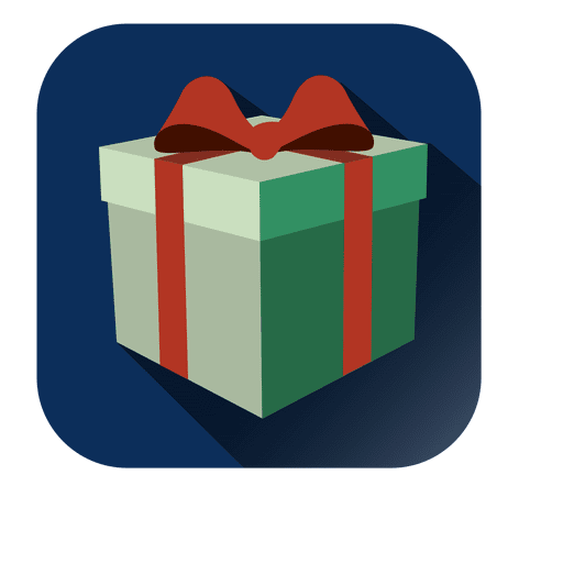 Wrapped giftbox christmas icon Transparent PNG