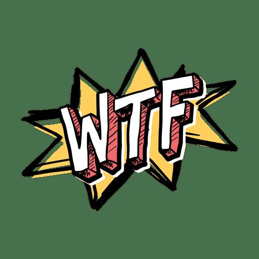 Palavra gíria WTF Transparent PNG