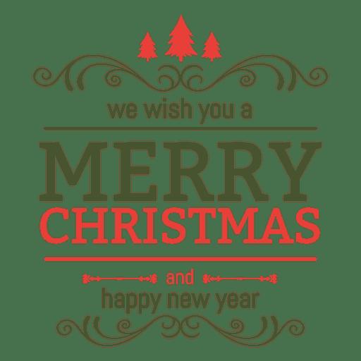 Navidad año nuevo etiqueta adornada Transparent PNG