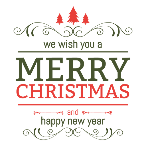 Xmas new year ornate label Transparent PNG