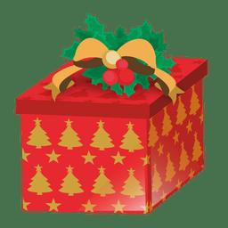 Arbol de Navidad impresa caja de regalo