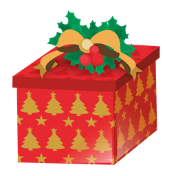 Xmas tree printed giftbox