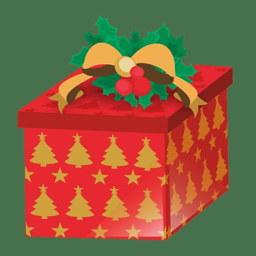 Árvore de natal impressa giftbox Transparent PNG