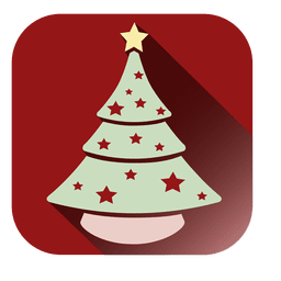 Xmas tree square icon