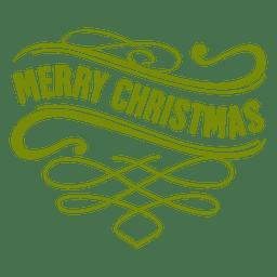 Weihnachtswelle verziert Etikett