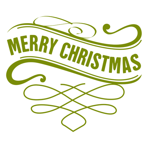 Xmas wave ornamented label Transparent PNG