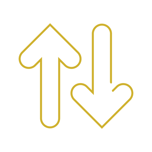 Línea de flechas amarillas icon.svg