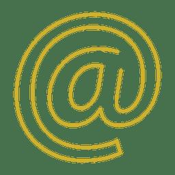 Amarillo en el correo electrónico icon.svg