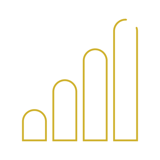 Yellow bar network line icon.svg Transparent PNG