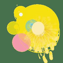 Fuegos artificiales de fiesta amarillo brillante
