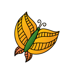 Decoracion mariposa amarilla