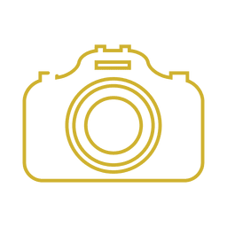 Yellow camera line icon.svg